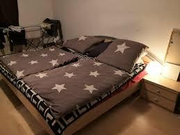 schlafzimmer bett nachttische kleiderschrank tv sideboard