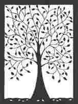 Rhcom Personal Paper Cut Out Art Templates Use Papercutting Template Flower Garden Papercut