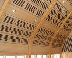 rulon wood grille panels can be shaped in to curved ceilings or