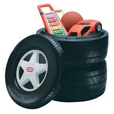 100 Little Tikes Classic Pickup Truck Racing Tire Toy Chest 640414C Bar