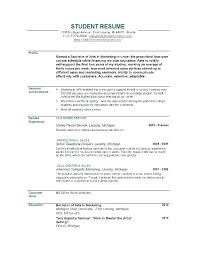 Recent College Graduate Resume Examples Sample Student Summer Job