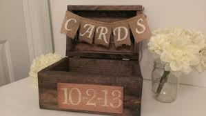 Rustic Card Box Wood Country Wedding Decor Burlap Banner