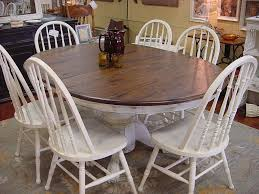 100 6 Oak Dining Table With Chairs 48 OAK ROUND TABLE W 18 LEAF SIX MATCHING CHAIRS For The