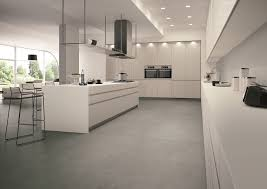 franke sinks kitchen contemporary with concrete look floor tile