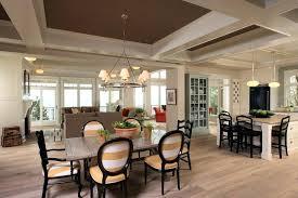 Open Floor Plan Kitchen Living Room Dining Surprising Concept Plans