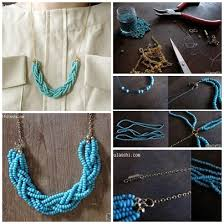 How To Make Uique Blue Beads Necklace Step By DIY Instructions