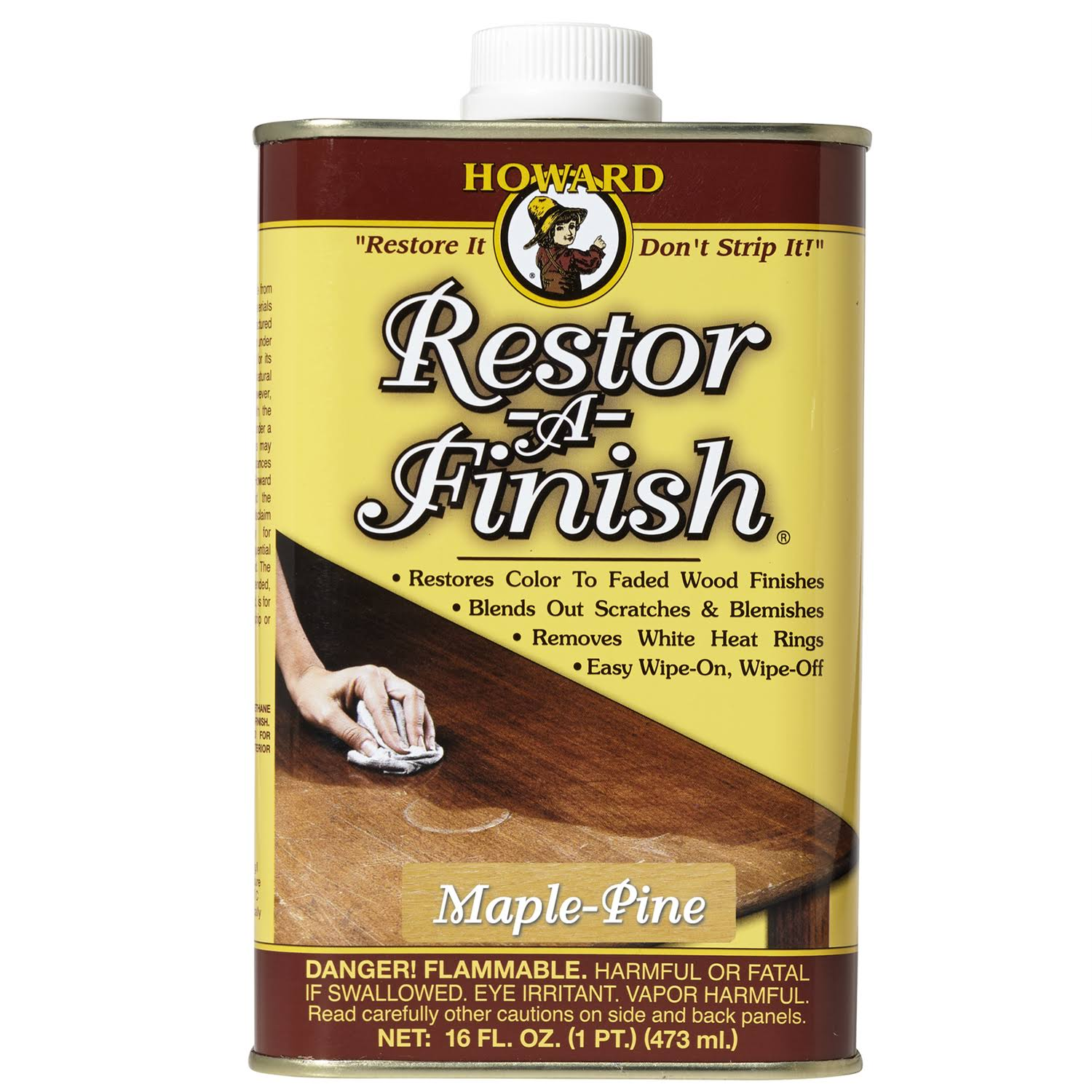 Howard Products Restor-a-Finish Wood Polish - Maple Pine, 16oz