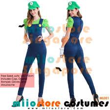 RENT BUY MARIO SERIES COSTUMES LADIES MENS ASSORTED LARGE VARIETY ROMPER LUIGI SUPER BROS TOAD PEACH MOVIE THEMED RETRO KART GAME