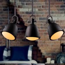 three light unique retro wrought iron industrial large pendant lights