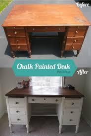 Pottery Barn Corner Desk Craigslist by I Found This Hulk Of A Desk On Craigslist Painted It Antique