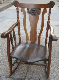 Uhuru Furniture & Collectibles: Turn-of-the-Century Oak Rocking ... Wooden Rocking Horse Orange With Tiger Paw Etsy Jefferson Rocker Sand Tigerwood Weave 18273 Large Tiger Sawn Oak Press Back Tasures Details Give Rocking Chair Some Piazz New Jersey Herald Bill Kappel Crown Queen Lenor Chair Sam Maloof Style For Polywood K147fsatw Woven Chairs And Solid Wood Fine Fniture Hand Made In Houston Onic John F Kennedy Rocking Chair Sells For 600 At Eldreds Lot 110 Two Rare Elders Willis Henry Auctions Inc Antique Oak Carving Of Viking Type Ship On Arm W Velvet Cushion With Cushions