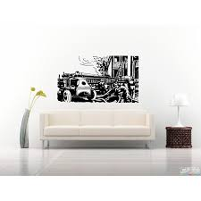 100 Fire Truck Wall Art Shop Sticker Decal Free Shipping On