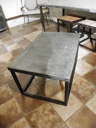 Zinc Coffee Table Top Brick Maker Style Stissing Design