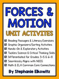 Forces And Motion Unit Activities Differentiated From Stephanie Elkowitz On TeachersNotebook