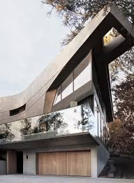 100 Tighe Architecture Facets And Curves Form Exterior Of Hollywood Hills House By