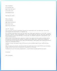Cover Letter Example Veterinary Assistant For Resume Vet Tech Downloads