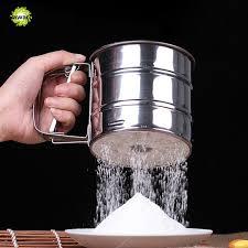 tamiser cuisine nouvelle tasse forme acier inoxydable maille poudre farine tamiser
