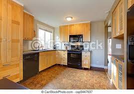 brauner kabinette modern wände ahorn kueche canstock