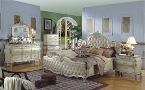 Distressed White Bedroom Furniture by The Paris Antique White Bedroom Collection 11568
