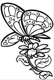 Free Printable Coloring Pages Flowers And Butterflies Butterfly With Flower Insects Gt
