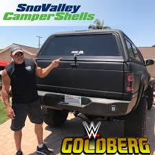 WWE Wrestler GOLDBERG Picked Up An ARE V Series Camper Shell For His ...