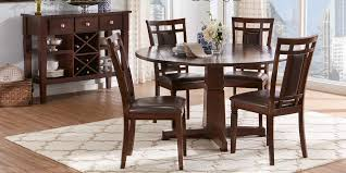 Riverdale Cherry 5 Pc Round Dining Room With Upholstered Back Chairs ... Trisha Yearwood Home Music City Hello Im Gone Ding Room Table Grey Griffin Cutback Upholstered Chair Along With Dark Wood Amazoncom Formal Luxurious 5pc Set Antique Silver Finish Tribeca Round And 2 Upholstered Side Chairs American Haddie Light Tone 4 Value Hooker Fniture Corsica Rectangle Pedestal Matisse With W Ladder Back By Paula Deen Vienna Merlot Kayla New
