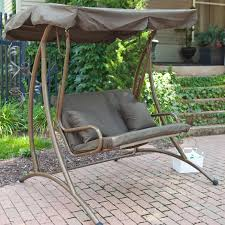 Sears Patio Swing Replacement Cushions by Coast Long Bay 2 Person Canopy Swing Chocolate Porch Swings Patio