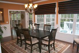 Dining Room Simple Dark Table And Fy Chairs For Colonial ...