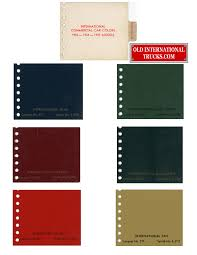 100 1936 International Truck Colour Charts Old Parts