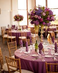 Fascinating Shades Of Purple Wedding Decorations 13 In Party Table With