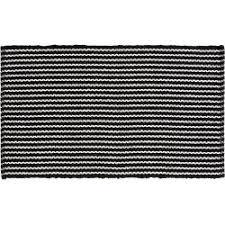 benuta plus badematte bono schwarz weiß 70x120 cm