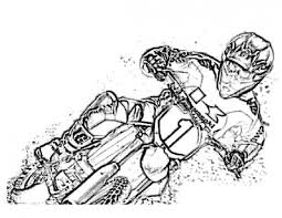 Dirt Bike Coloring Pages Printable Sports
