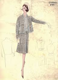 Vintage CHANEL Fashion Sketches From The And
