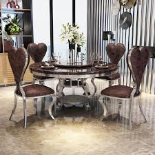 US $1078.0 |Rama Dymasty Stainless Steel Dining Room Set Home Furniture  Modern Marble Dining Table And 6 Chairs,round Dining Table-in Dining Tables  ... Cm3556 Round Top Solid Wood With Mirror Ding Table Set Espresso Homy Living Merced Natural Wood Finish 5 Piece East West Fniture Antique Pedestal Plainville Microfiber Seat Chairs Charrell Homey Design Hd8089 5pc Brnan Single Barzini And Black Leatherette Chair Coaster 105061 Circular Room At Hotel Hershey Herbaugesacorg Brera Round Ding Table Nottingham Rustic Solid Paula Deen Home W 4 Splat Back Modern And Cozy Elegant Sets