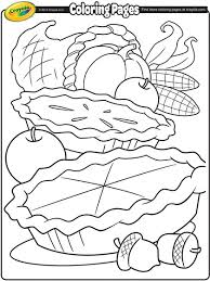 Remarkable Thanksgiving Coloring Pages Crayola Cornucopia Page In