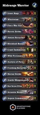 guide midrange legend warrior hearthstone players