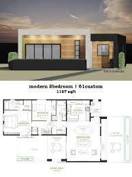 Modern Houseplans Modern 2 Bedroom House Plan