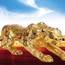 leopard königin dekoration glück handwerk büro eröffnet in moderne dekoration wohnzimmer tv schrank ornamente