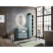 badezimmer spiegel lustro 60cm rund mit led beleuchtung