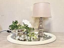 druline tischle steffi le nachttischleuchte mit schirm klassische dekoration fürs schlafzimmer wohnzimmer esszimmer aus keramik silber fuß
