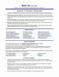 Project Management Resume Examples Unique Manager Summary Awesome Engineering Of