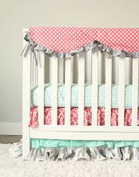 Coral And Mint Crib Bedding by Coral Elephant Crib Bedding Creative Ideas Of Baby Cribs
