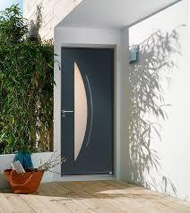 porte d entrée aluminium contemporaine moyen et grand vitrage