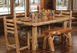 Log Rustic Kitchen Table Sets