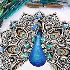 Peacock Mandala Art On Instagram