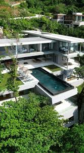 3 Storey House Colors Modern Style 3 Story House With Full Glass Exterior Walls On 3rd