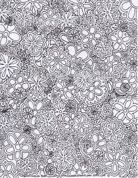 Flowers Abstract Coloring Page