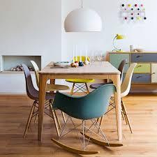 100 Eames Style Rocking Chair Vita Interiors Charles RAR Black
