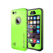 PUNKcase StudStar Light Green Case for Apple iPhone 5S 5