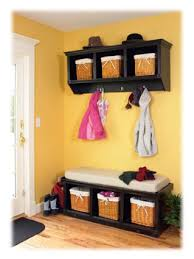 Cubby Bench Shown With Coat Rack Entryway